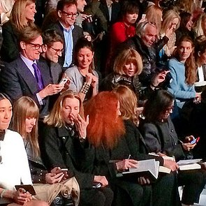Anna Wintour Sitting Second Row at Valentino Fall 2014
