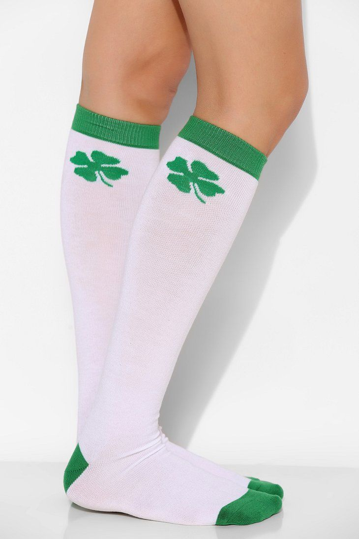 Urban Outfitters St. Patty's Day knee-high sock ($12)