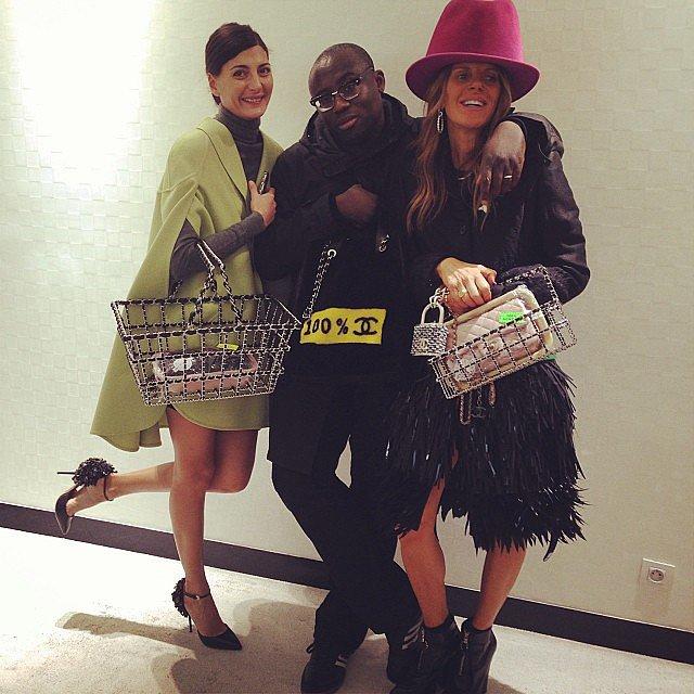 Anna Dello Russo at a Chanel Appointment