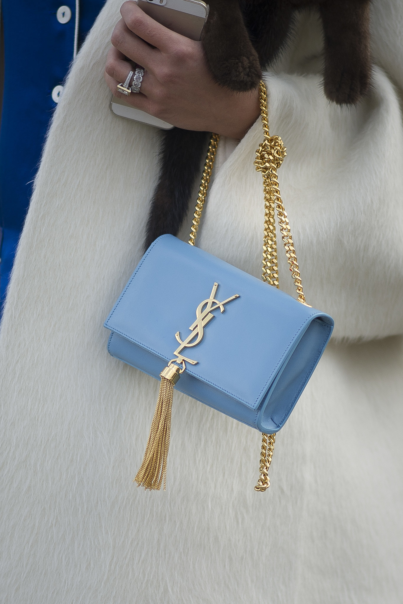 The prettiest baby blue hue on this YSL bag.   Isn\u0026#39;t It Always ...