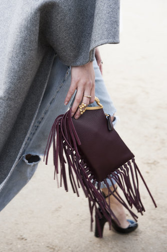 We love everything about this — the color, the fringe, the jewelry!