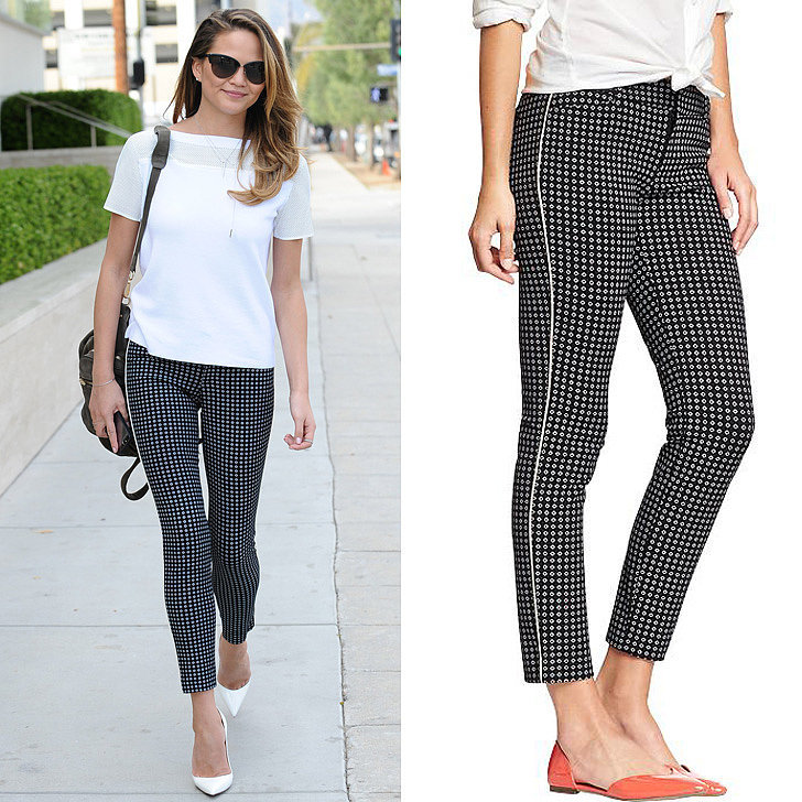 Chrissy-Teigen-Black-White-Old-Navy-Pants.jpg
