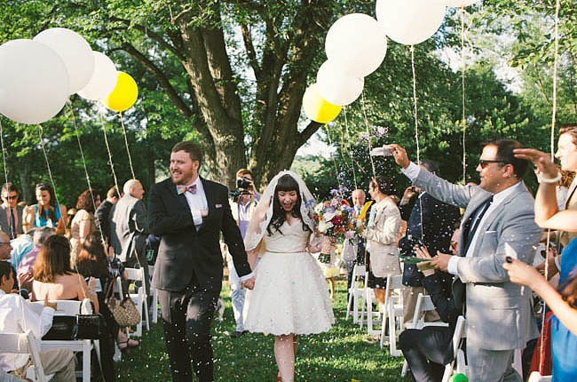 Tie Them to Guests' Chairs to Create a Walkway . . .