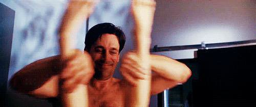 While Jon Hamm in Bridesmaids totally knows.