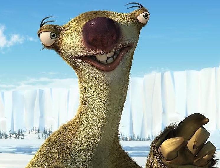 He thinks he looks like Sid from Ice Age.