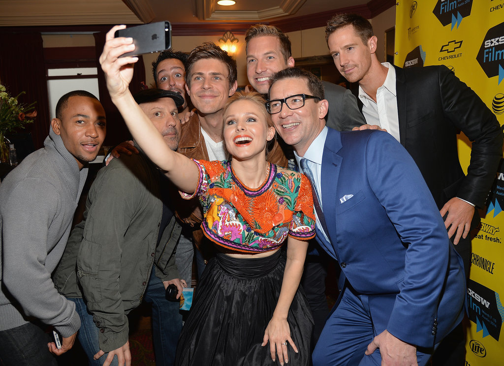 Kristen Bell took a big group selfie before her screening on Saturday. Director and cowriter Rob Thomas and costars Percy Daggs, Enrico Colantoni, Chris Lowell, Ryan Hansen, and Jason Dohring all huddled for the shot.