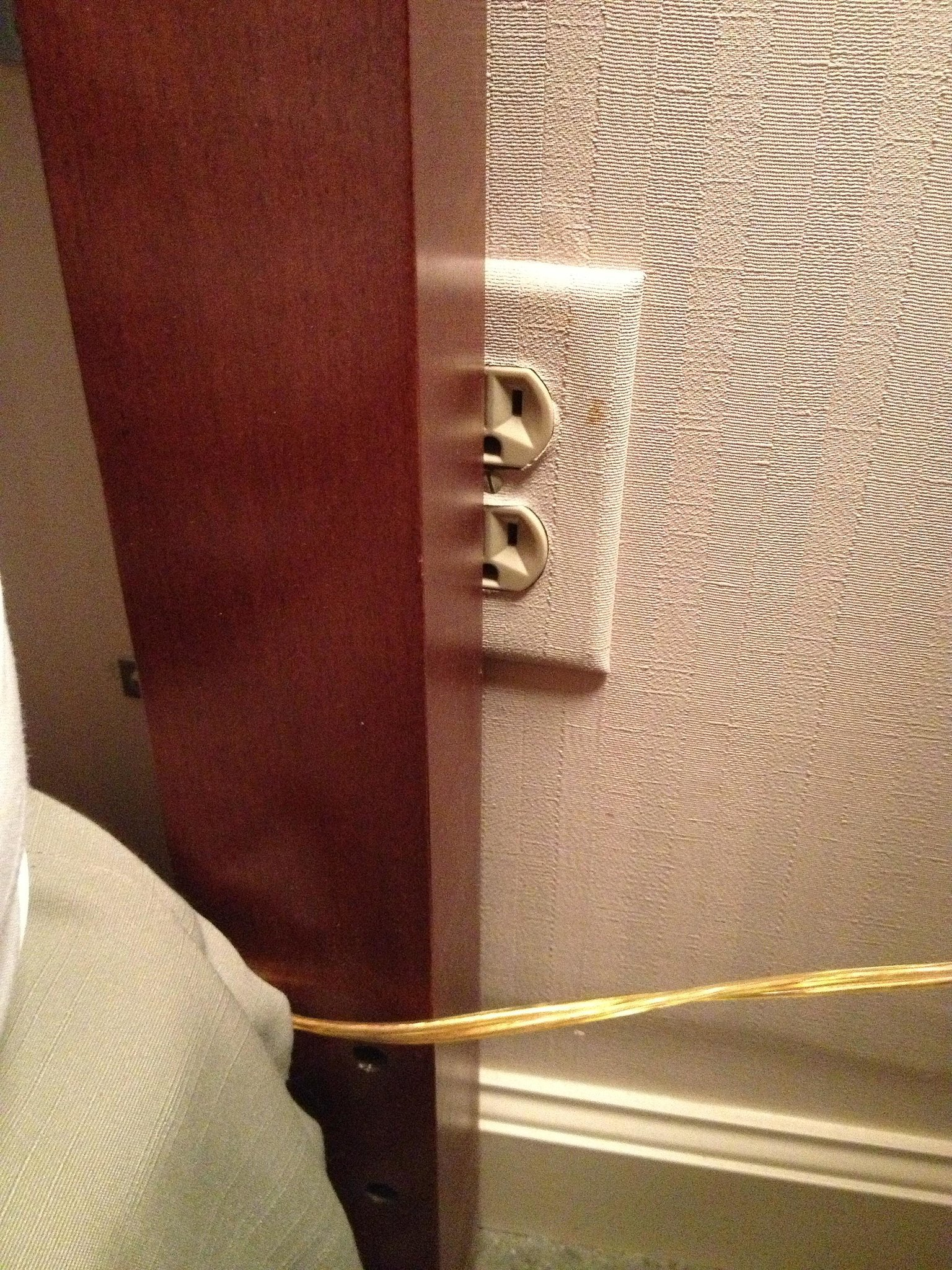 When the Sockets Are Blocked in a Hotel Room
