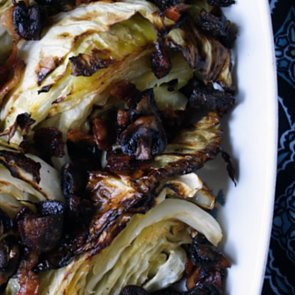 Roast Cabbage With Mushrooms and Bacon