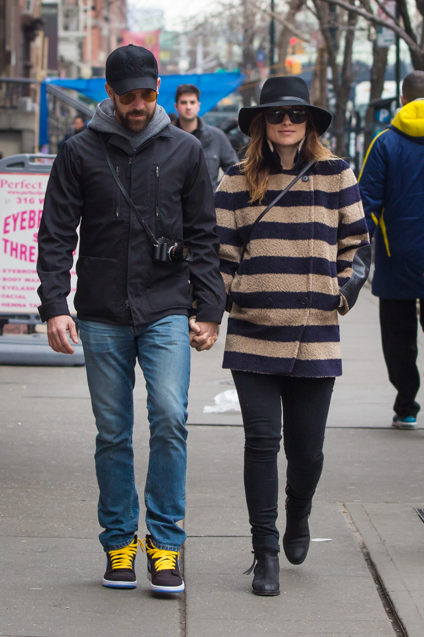 Jason Sudeikis and Olivia Wilde headed to lunch at Cafe Cluny in NYC on Monday.