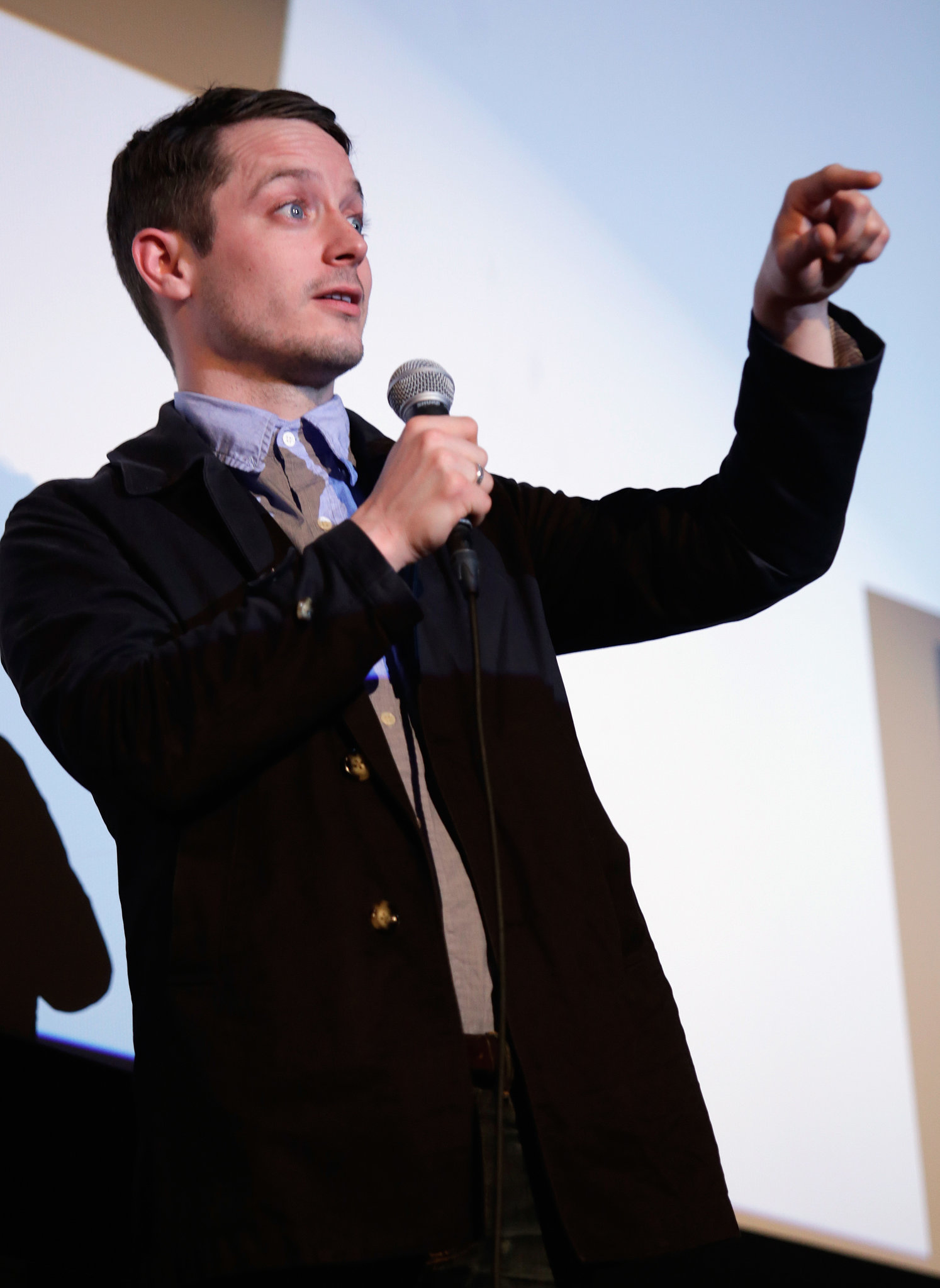 Elijah Wood pointed at the crowd on Monday.