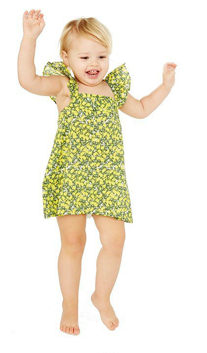 Lemon Blossom Ruffle Dress With Bow ($39)