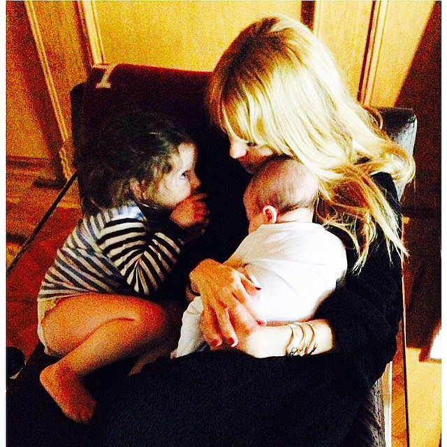 Rachel Zoe got some morning hugs from her sons, Skyler and Kaius. Source: Instagram user rachelzoe