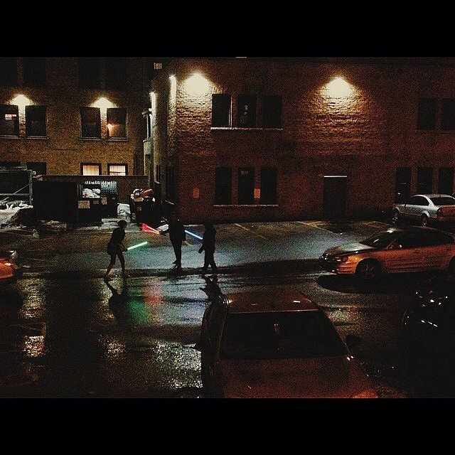 """My sister looked out the window of her apartment and saw an ongoing lightsaber battle in progress"" Source: Reddit user VIParadigm"