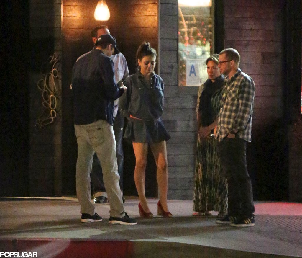 Mila and Ashton Hug It Out on a Double Date With Jon Cryer