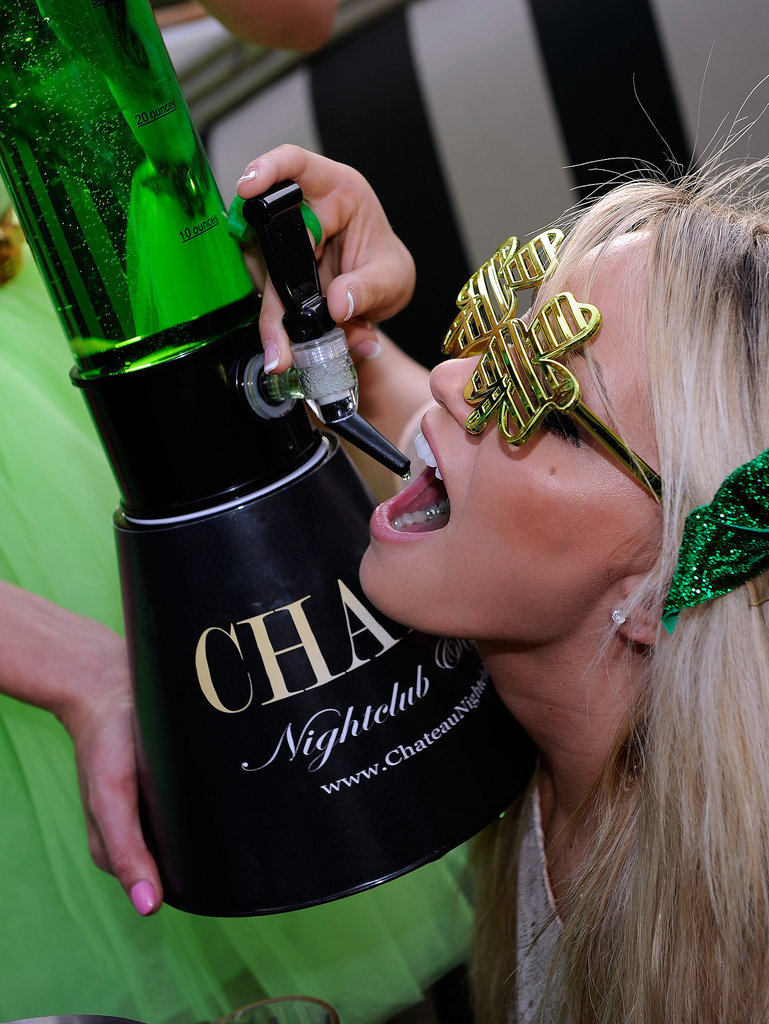 First of all, this was a real-life St. Paddy's Day party in Vegas.