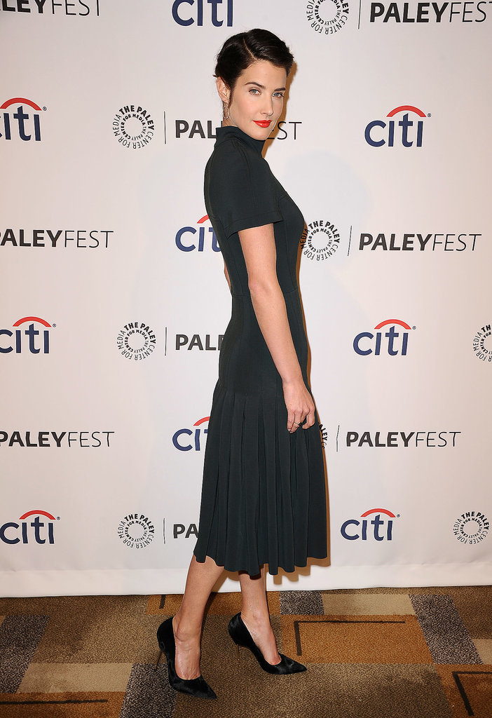 Cobie Smulders wore her hair up.