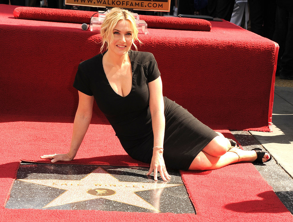 Kate Winslet got a star on the Hollywood Walk of Fame in LA.