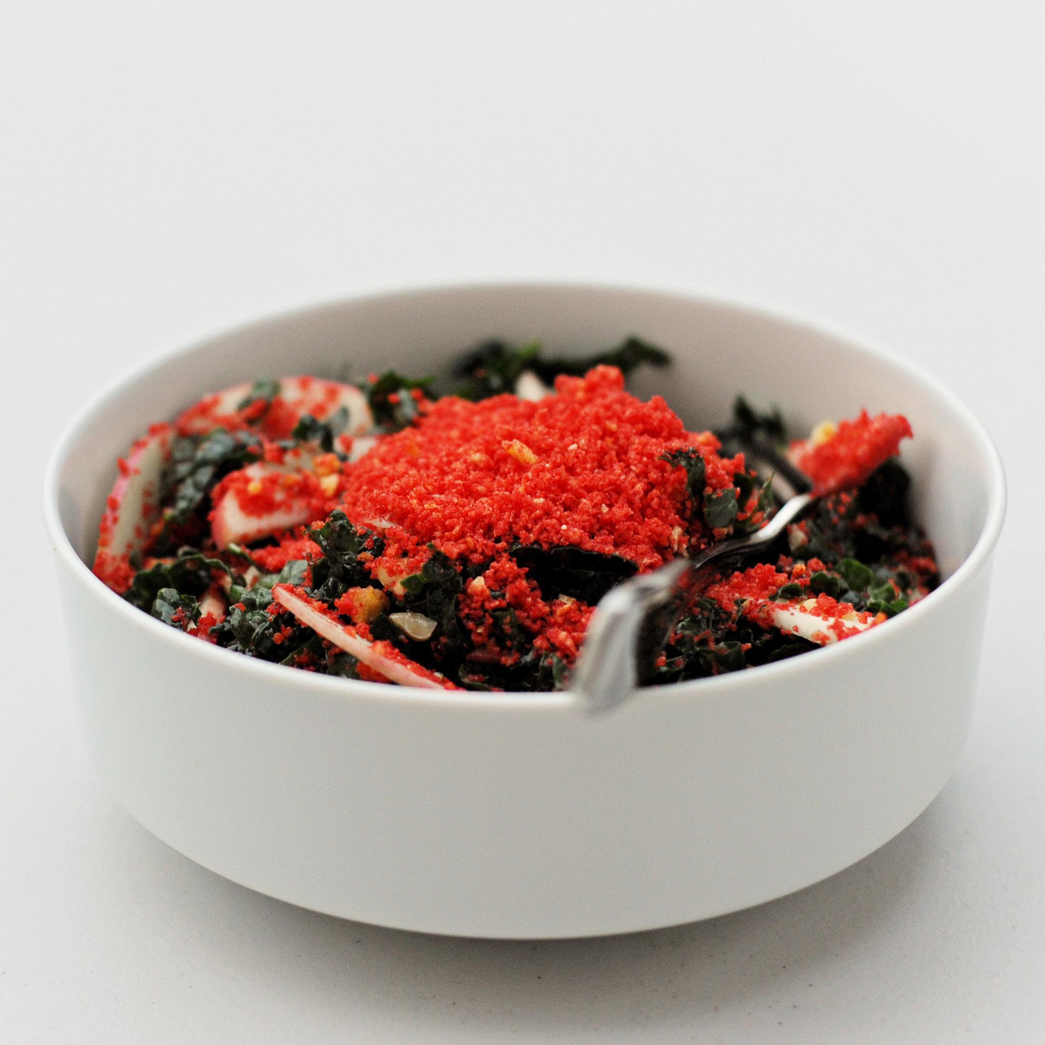 Hot Cheetos Kale Salad