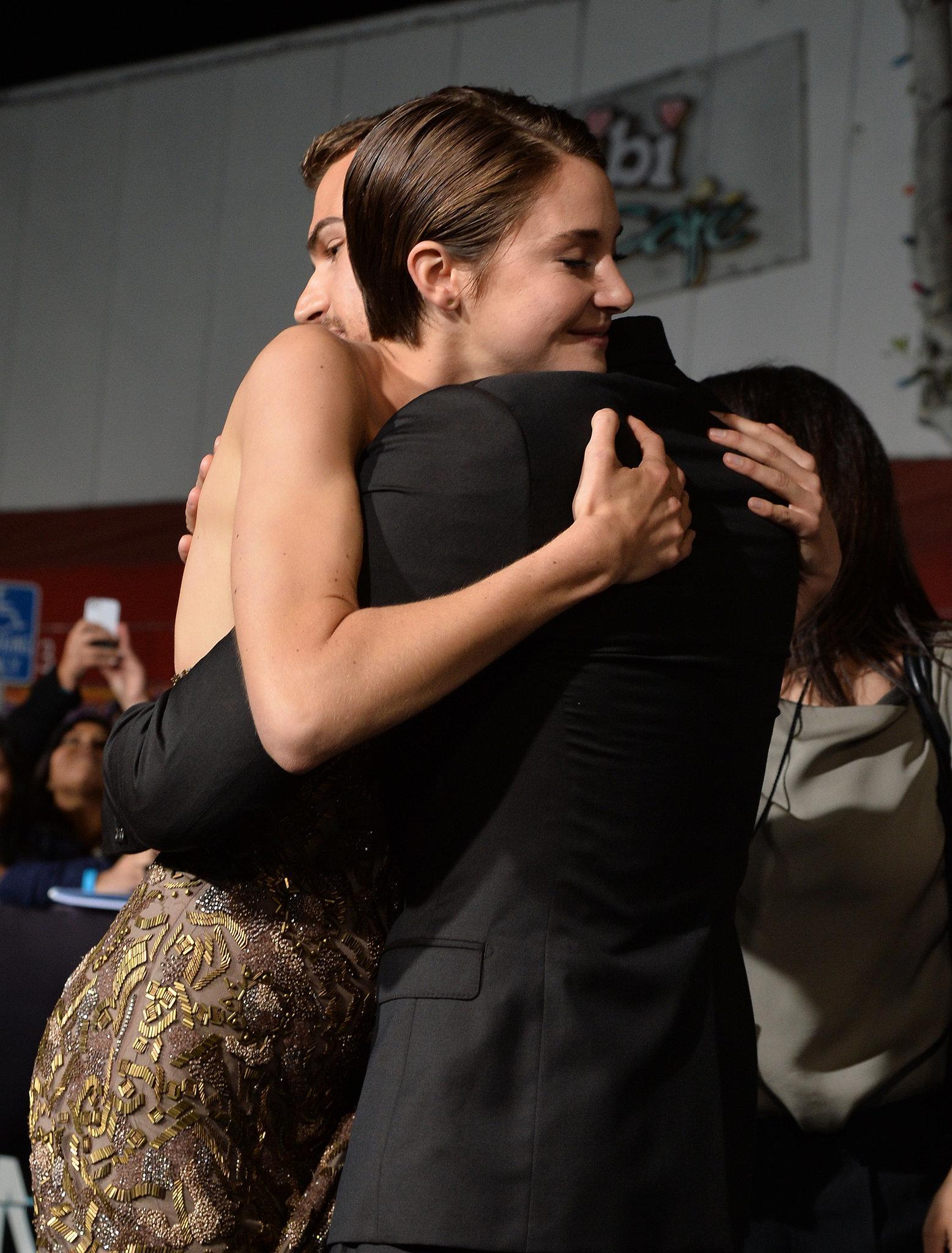 Then She Gave Theo James a Big Hug