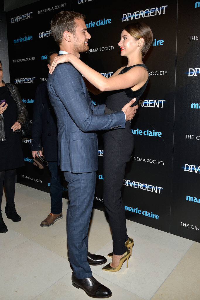 Shailene Woodley And Theo James, Divergent New York ...