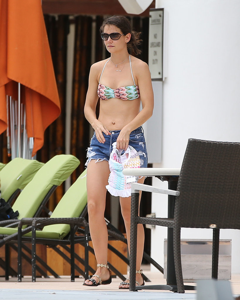 In January 2014, Katie Holmes wore a bikini in Miami.