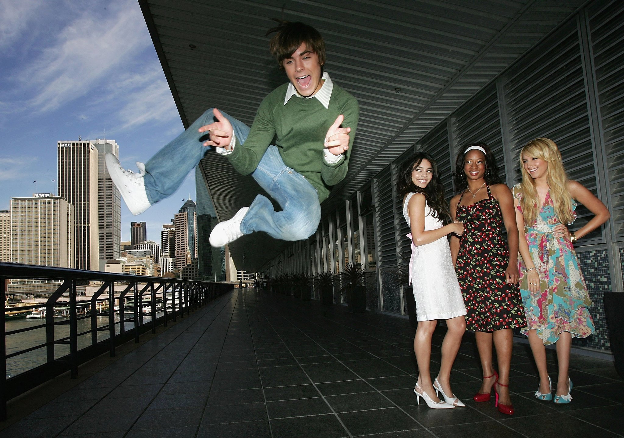 He was kind of the same in High School Musical in 2006.