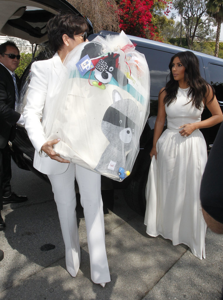 "Kim Kardashian Makes ""#Mommymemories"" at Ciara's Baby Shower"