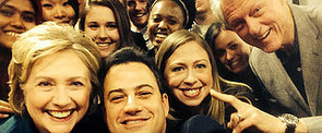 The Clintons Huddle With Jimmy Kimmel For a Smiley Selfie