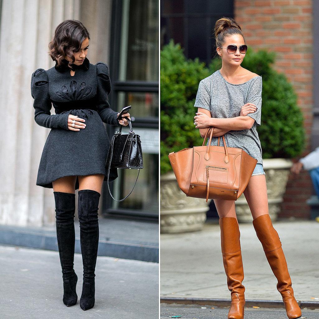 Celebrities Wearing Over the Knee Boots