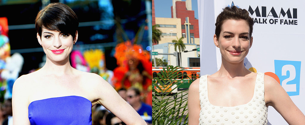 Do You Prefer Anne Hathaway's Daytime or Night-Out Pixie Style?