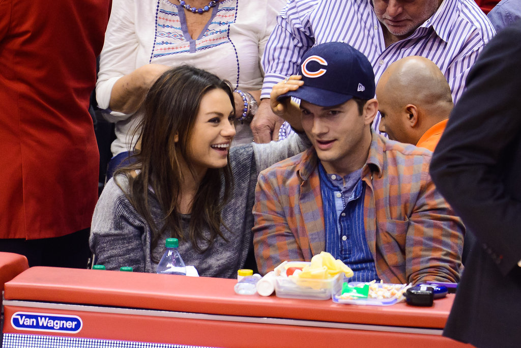 They laughed at a Clippers game in LA in March 2014, just before announcing her pregnancy.