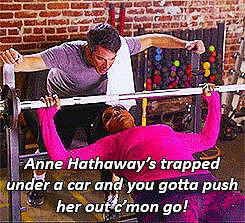 When she performs a celebrity-saving workout