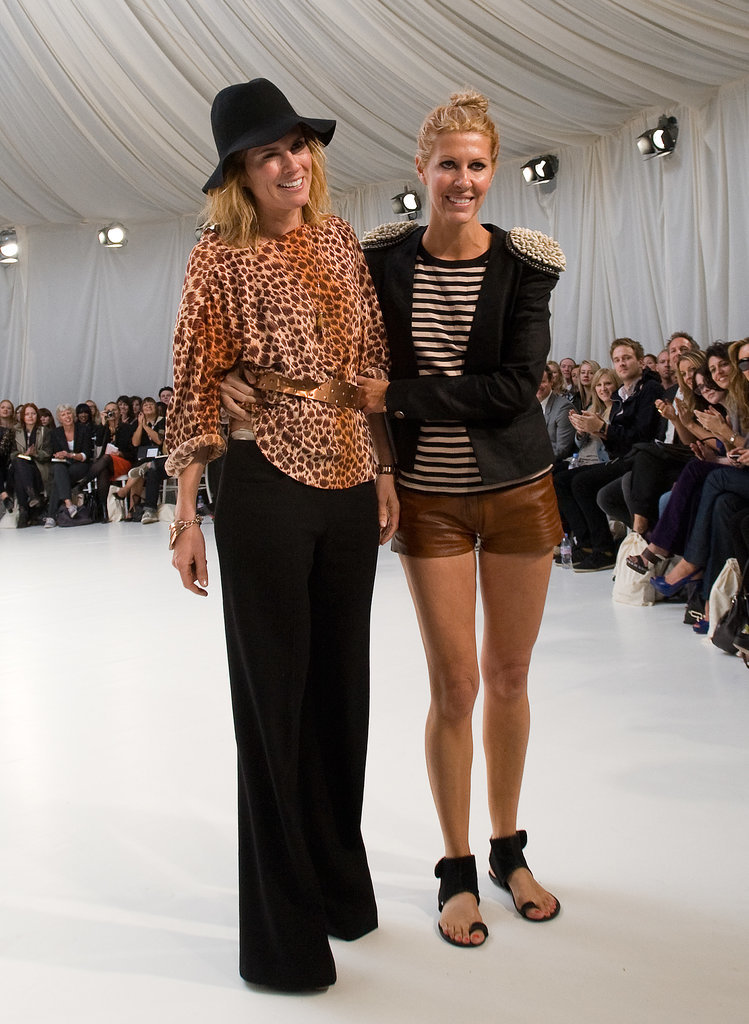 Sarah-Jane Clarke and Heidi Middleton at Spring 2011 London Fashion Week