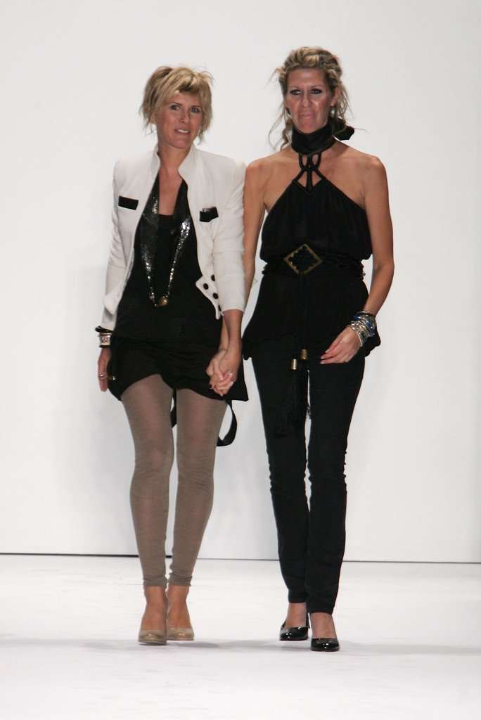 Sarah-Jane Clarke and Heidi Middleton at Spring 2007 New York Fashion Week