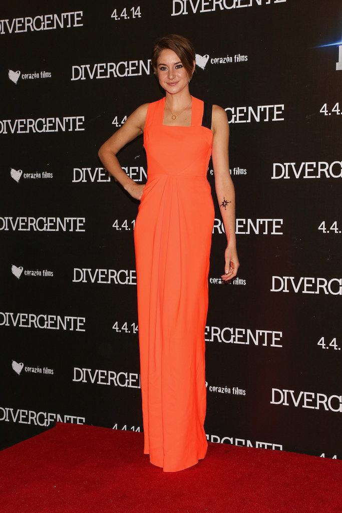 Shailene Woodley at the Mexico City Divergent Premiere