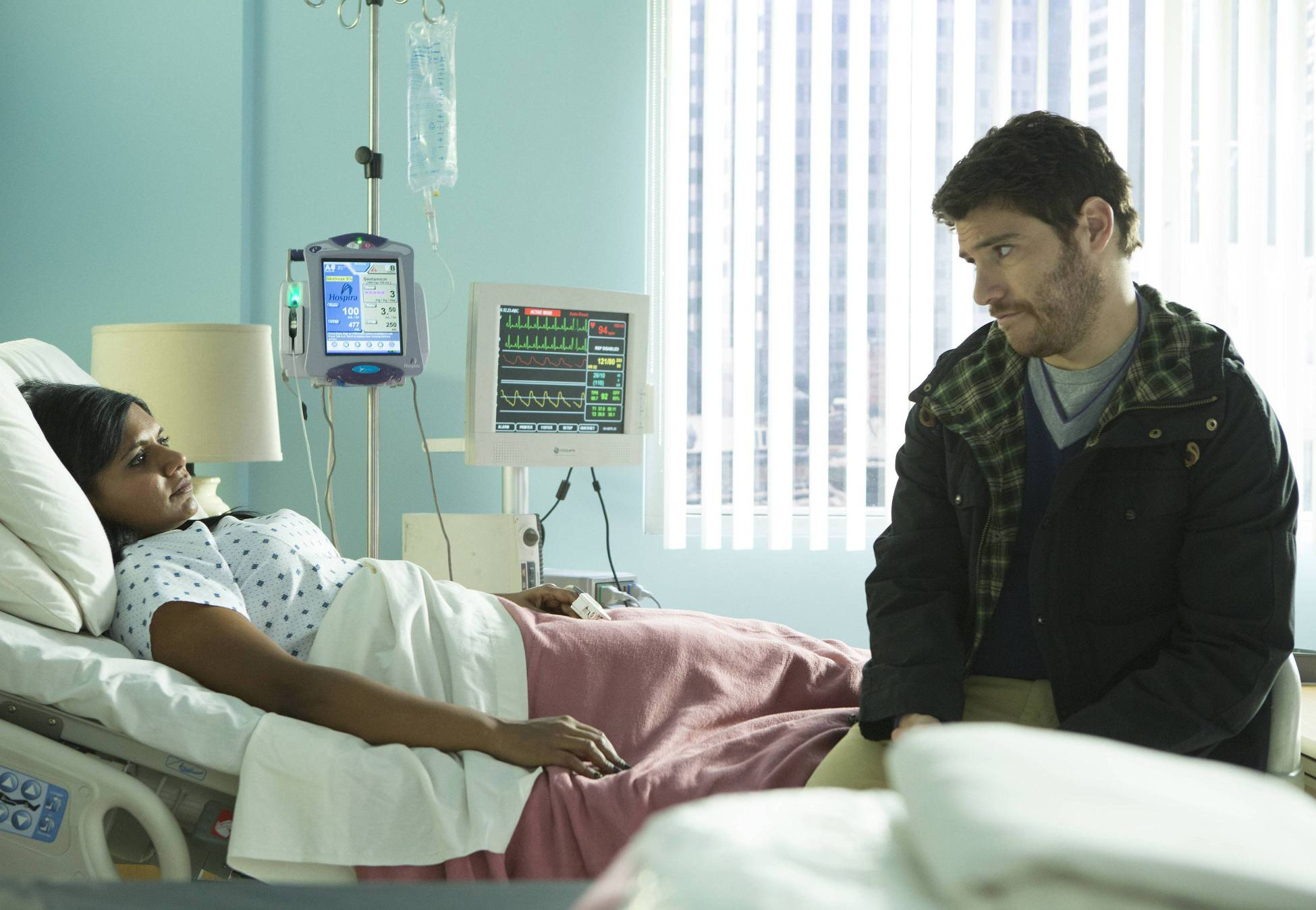 """Mindy ends up in the hospital in the second part, """"Indian BBW,"""" of the two-part episode."""