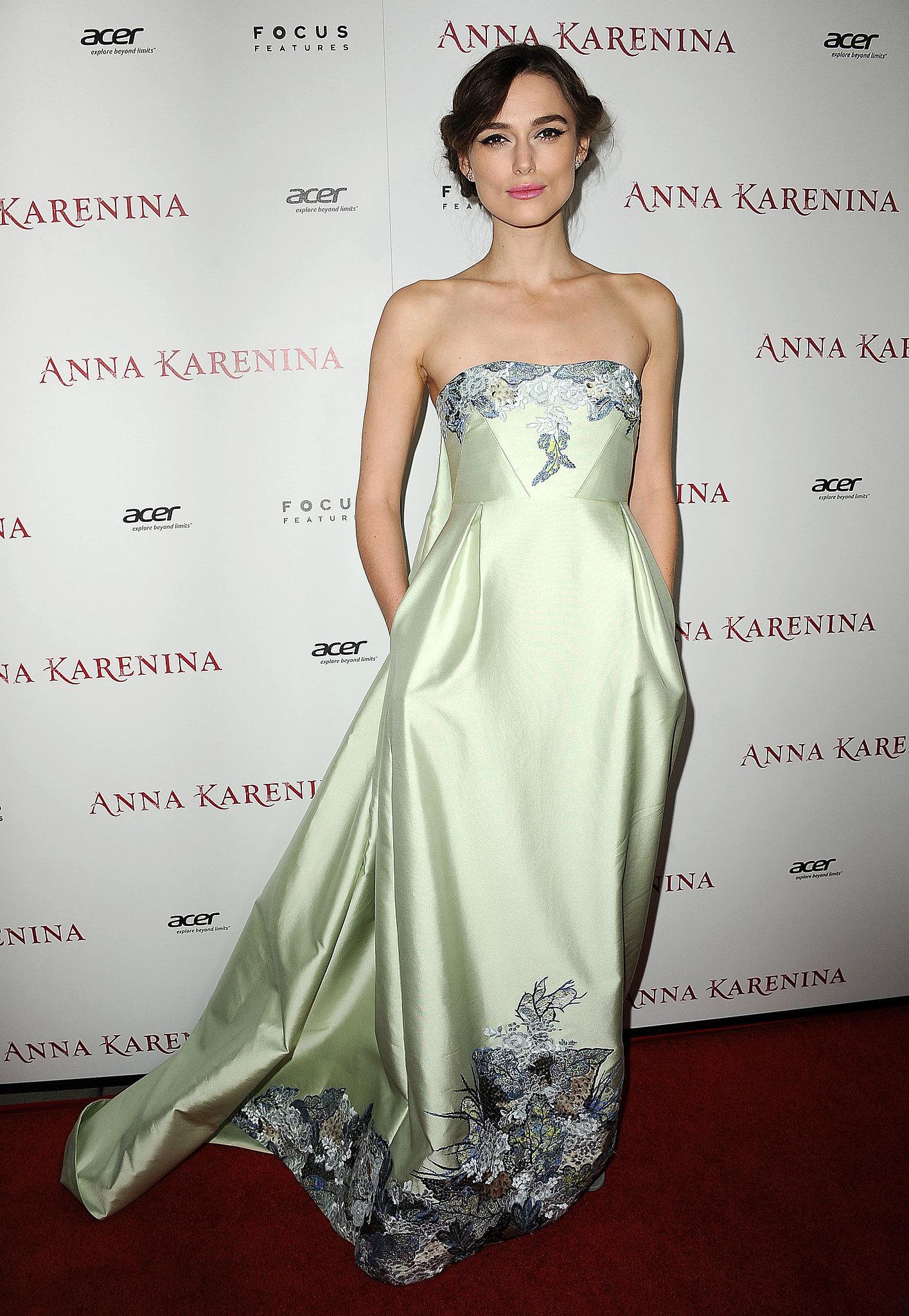Keira Knightley at the Anna Karenina LA Premiere
