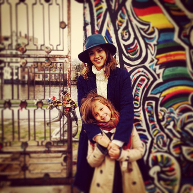 Jessica Alba toured Berlin — and visited the Berlin Wall — with Honor over Spring break. Source: Instagram user jessicaalba