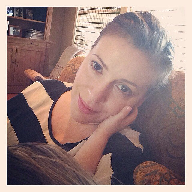 Little Milo Langdon kept close tabs on his mom, Alyssa Milano, during nap t