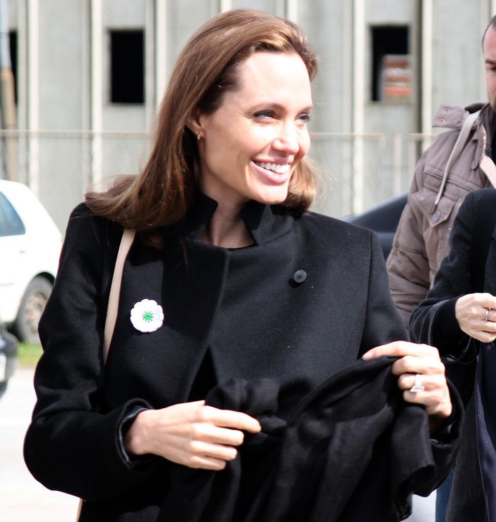 Angelina Jolie popped up in Sarajevo,  as she traveled through Bosnia and Herzegovina to continue to raise awareness about sexual violence in war zones.