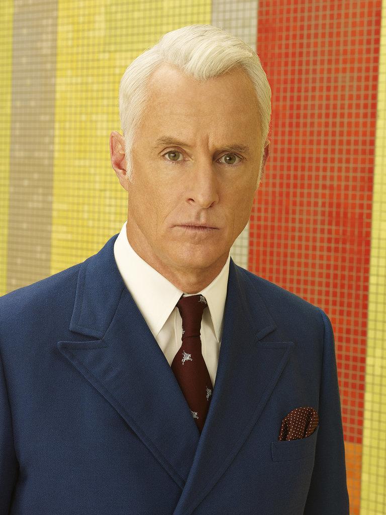 John Slattery as Roger Sterling.