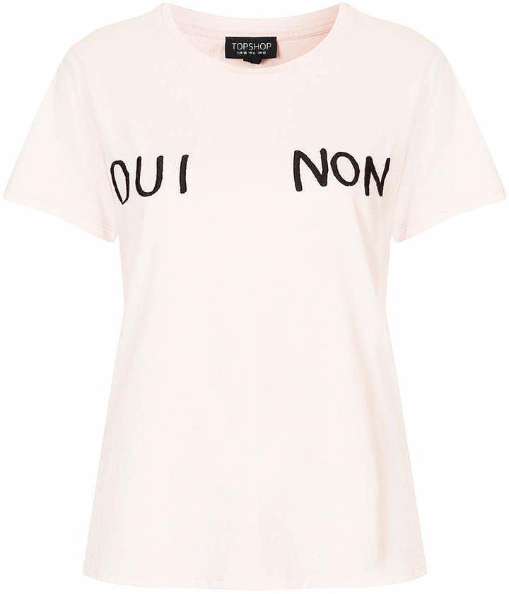 Topshop Oui Non Tee ($32)