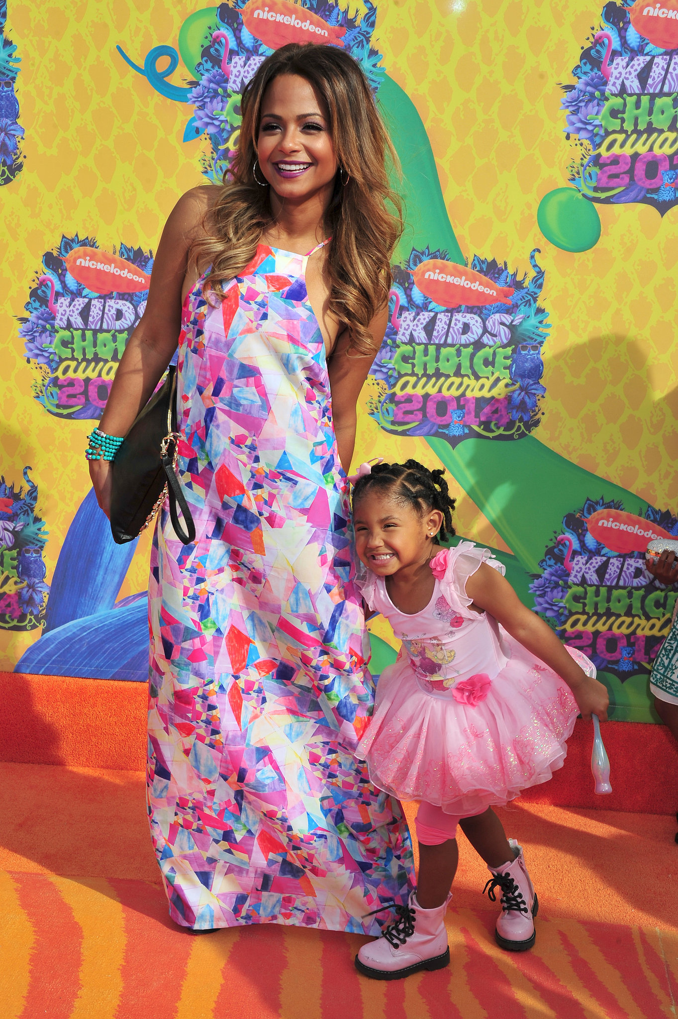 Christina Milian had fun with daughter Violet Madison Nash.