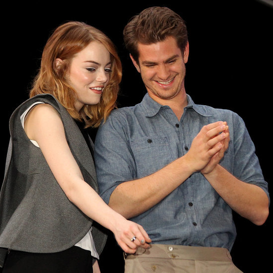 Emma Stone and Andrew Garfield Doing Earth Hour in Singapore