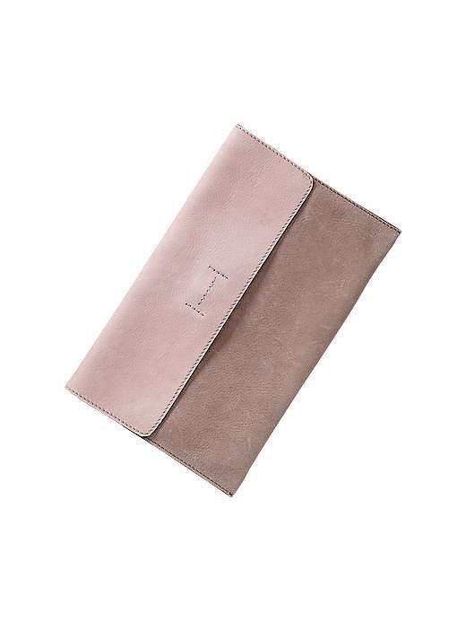 Gap Pastel Colorblock Leather Clutch