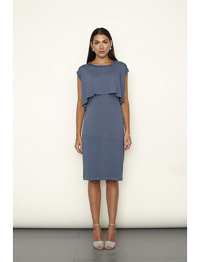Keungzai Twisted Neck Detail Dress