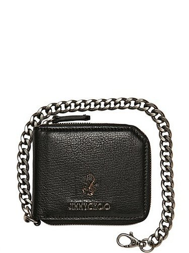 Jimmy Choo - Scorpion Soft Leather Chain Wallet
