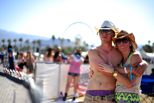 A couple held each other at Stagecoach.