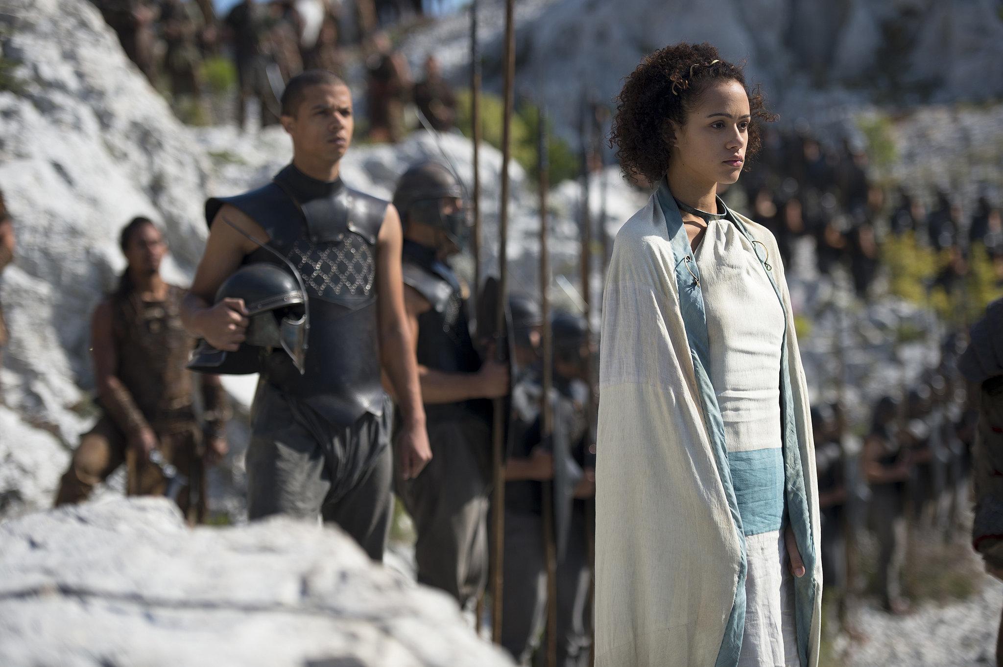 Daenerys's entourage looks ready for action.