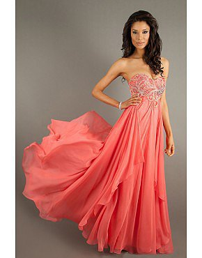 2014 Sweetheart Watermelon Prom Dress Beaded Bodice A Line